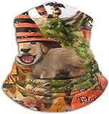 Braga para el cuello de los perros de Halloween Lindo perro polainas para el cuello con volantes, cómoda máscara de esquí, versátil, resistente al viento, para adultos, niños, esquiadores