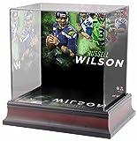 Sports Memorabilia Russell Wilson Seattle Seahawks Deluxe Mini Helmet Case - Football Mini Helmet Free Standing Display Cases