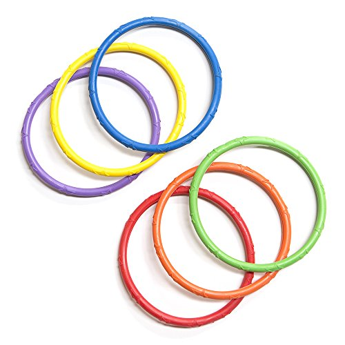 Banzai Spring & Summer Toys Pool Time Dive Rings 6-Pack