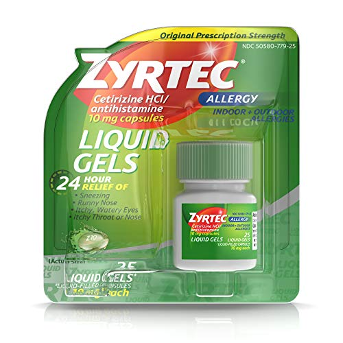 Zyrtec 24 Hour Allergy Relief Capsules - Cetirizine HCl - 25ct