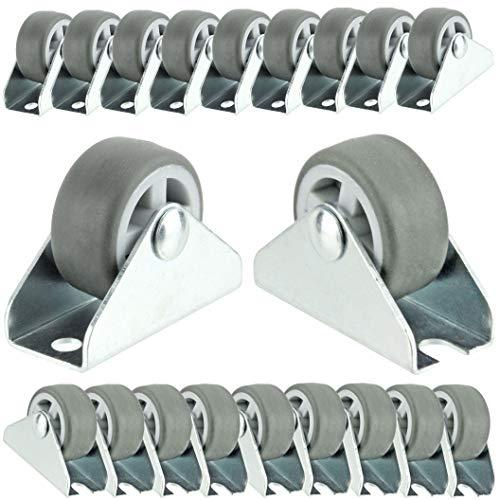 Spares2go Maleta pequeña de 32 mm de 1 pulgada para muebles de bajo nivel (paquete de 20 ruedas)