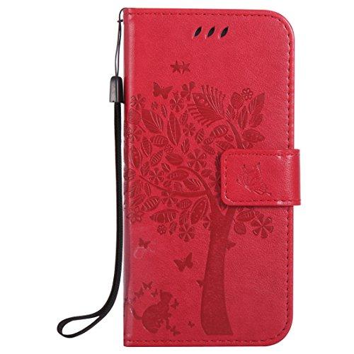 Nancen Compatible with Handyhülle HTC One M9 (5 Zoll) Flip Schutzhülle Zubehör Lederhülle mit Silikon Back Cover PU Leder Handytasche