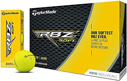 TaylorMade Rbz Soft Dutzend Golfbälle (2019), gelb, 2