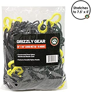 Grizzly Gear Large Bungee Cargo Net w 16 Durable Nylon Hooks -7
