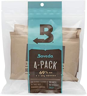 Boveda for Cigars/Tobacco | 69% RH 2-Way Humidity Control | Size 60 for Use with Every 25..