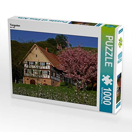 CALVENDO Puzzle Tiergarten 1000 Teile Lege-Größe 64 x 48 cm Foto-Puzzle Bild von Günter Franz Müller Fotografie