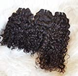 Clytie One Donor Raw Indian Curly Hair Unprocessed Virgin Cuticle Aligned Human Hair Double Wefted Bundles Extensions (16'18'20')