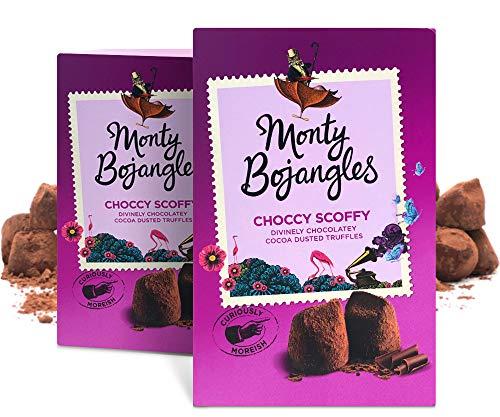 Monty Bojangles Choccy Scoffy Kakao bestäubte Pralinen, einzeln verpackte Stücke, 2 x 200g Packungen