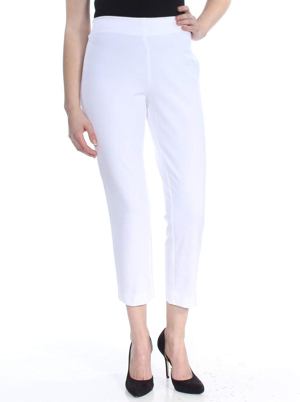 Lauren Ralph Lauren Womens Keslina Cropped Skinny Dress Pants White 10