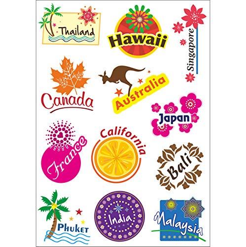 BUCUO Llévame a Viajar, Turismo, Vacaciones, país, Pegatinas, Maleta, Carrito, Maleta, Equipaje, Pegatinas, Pegatinas Impermeables