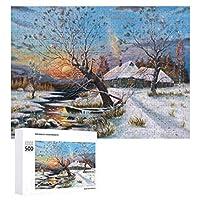 ウッドリバー1(3) 500ピースのパズル木製パズル大人の贈り物子供の誕生日プレゼント1000ピースのパズル