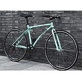 LWJPP 26 Pulgadas de Ruedas - Bicicletas de montaña de neumáticos Duro Camino de la Bicicleta de la Bici Playa Nieve City Road Doble suspensión de la Bicicleta de montaña (Color : B)