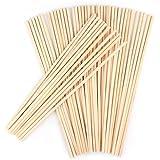 Paquet de 50 bâtons ronds en bois,ANSUG goujons de goujon en bambou naturel non finis pour projets d'artisanat de bricolage...