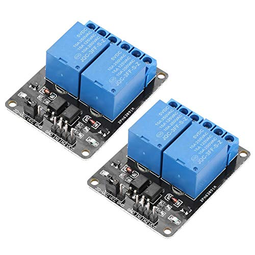 2 Channel Relay Module-2Pcs 2 Channel Isolated Type Relay Module 5V Relay Expansion Board for Arduino