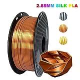 KEHUASHINA PLA Filament 2,85 mm Durchmesser für 3D-Drucker - Seidenkupfer mit glänzendem Metallglanz - 1 kg Silk Pla Spool - 3D-Druckerzubehör