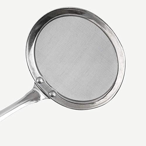 Surper - Espumadera de malla fina para escurridor de aceite, colador de cuchara de pescar de espuma, herramienta de cocina rentable y duradera