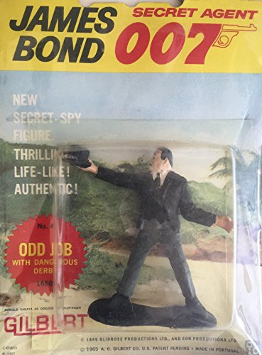 "Original A.C Gilbert/"" 007/"" JAMES BOND figurine chapeau"