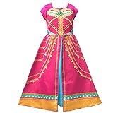 AOGD - Disfraz de princesa jazmín para niña, adulto, ropa de cosplay, Halloween, Navidad, fiesta de cumpleaños, color rojo