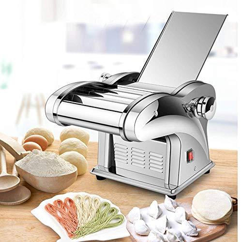 YJINGRUI 製麺機 電動麺プレス機 ステンレス製 ナイフ付き Electric Noodle Press Machine パスタマシン 業務用 家庭用 110V (ナイフ*1)