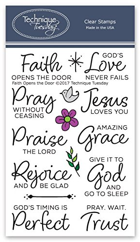 Faith Opens The Door Clear Stamps | Stamps Christian | Clear Rubber Stamps | Photopolymer Stamps | Card Making Supplies