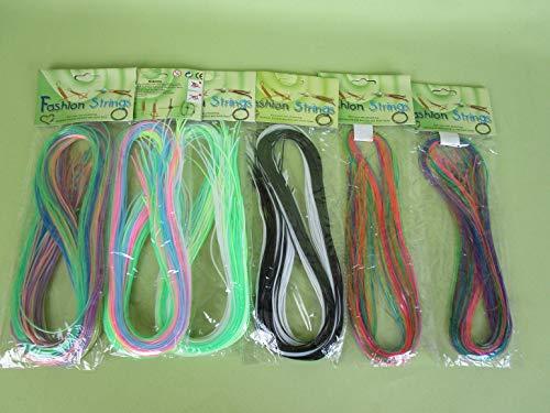 Scubidoo Bänder 6-er Set Länge 90 cm 6 x 25 Bänder in verschiedenen Farben