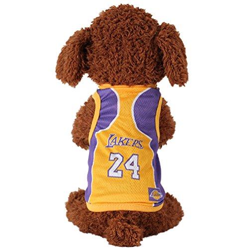 KayMayn Pet Jersey Football Lizenzprodukt Hund Jersey, Kommt in 6Größen, Hund Kleidung Shirt Hunde Kostüm National Fußball-Weltmeisterschaft, Outdoor Sportswear Sommer Atmungsaktiv, Lakers, XX-Large