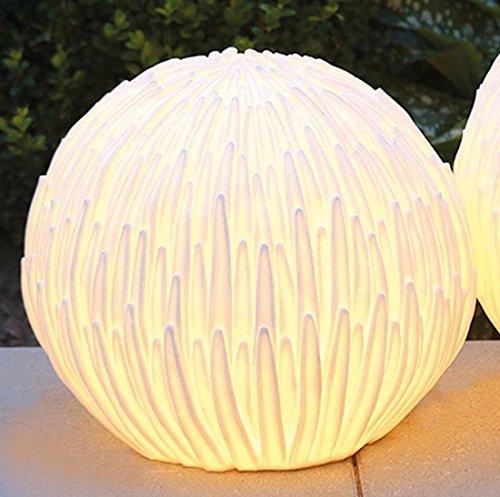 CASABLANCA Lampe de Sol Blossom Crème Outdoor, câble?: 5 m H. 31 cm