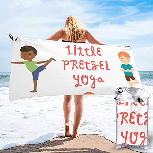 N/A Mikrofaser Kühlendes Handtuch, Kühlendes Sport-Handtuch für Reisen, Strand, Fitnessstudio, Camping, Schwimmen, Yoga, kleine Brezel, Yoga, schnelltrocknend, leicht