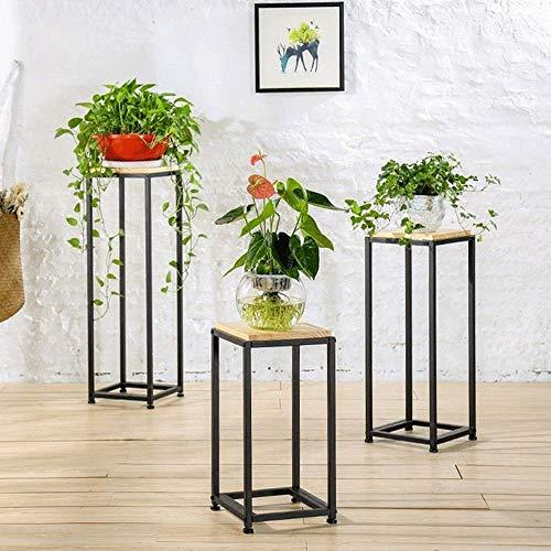 DGDF Soporte para suelo de múltiples capas, soporte para flores, de madera maciza, antioxidante, multicapa, ideal para alféizar de ventana, sala de estar, oficina, estanterías