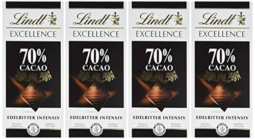 Lindt & Sprüngli Excellence Edelbitter 70 %, 4er Pack (4 x 100 g)