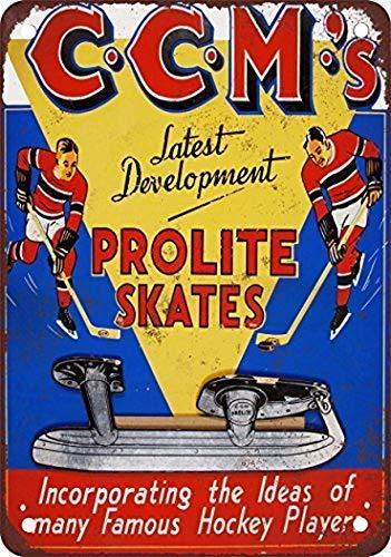 BIT YULALA Ccm Prolite Hockey Skat Retro Tin Signs Metal...