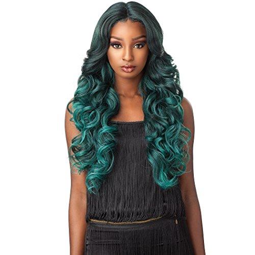 Sensationnel Synthetic Lace Front Wig Empress Edge Natural Center Part Trissa (LAVENDER)
