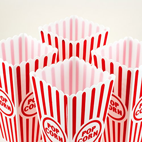 Product Image 4: Tytroy 4 Piece Plastic Reusable Movie Theater Style Popcorn Container Set