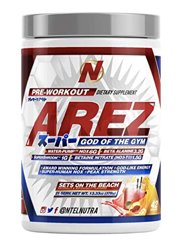 Arez Super: God of The Gym Pre-Workout (Sets on The Beach)