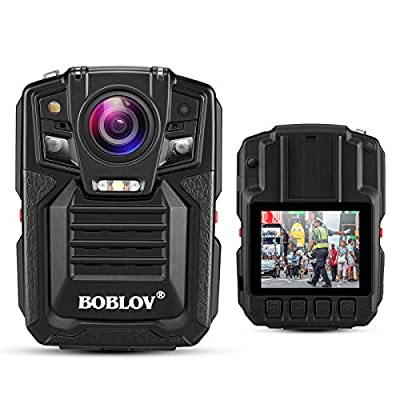 Body Cameras for Law Enforcement, BOBLOV 1296P 170° Wide Angle Body Mounted Body Cam Video Recorder with IR Night Vision, Audio for Security Guard from BOBLOV