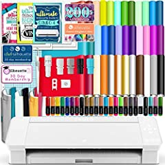 """Silhouette Cameo 4 with Bluetooth and Manufacturer's 1 year Warranty. No Internet Connection Required.Now able to cut 12"""" and up to 60 feet long rolls of media. 38 Sheets of Oracal 651 Premium Vinyl - 12"""" x 12"""", 12 Sheets of Premium Transfer Tape -..."""