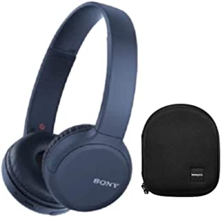 Sony WH-CH510 Wireless On-Ear Headphones (Blue) with Knox...