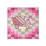 Écharpe carrée pour femme - Col de cochon - Écharpe et foulard tendance - 88,9 x 88,9 cm