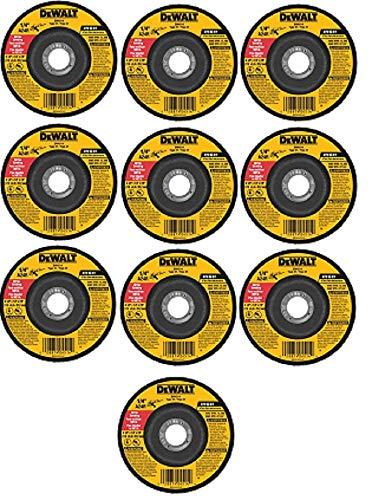 DEWALT DW4514B5 4-1/2-Inch by 1/4-Inch by 7/8-Inch Metal Grinding Wheel - 10 Pack
