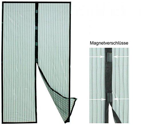 Fliegengitter, Insektenschutzvorhang mit Magnetverschluss für Balkontüren