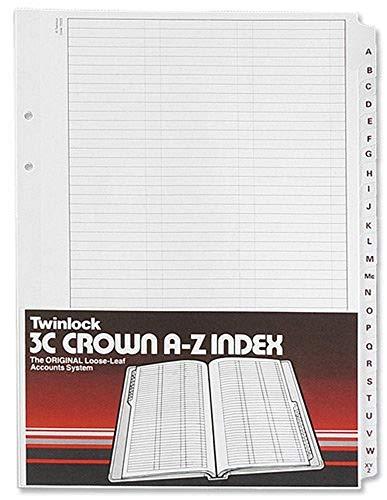 Rexel Twinlock 3C Crown - Hojas índice A-Z (324 x 229 mm)