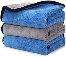Happy Road Car Drying Towel, Microfiber Cleaning Cloth Lint Free, Premium Professional Soft Microfiber Towel, 16