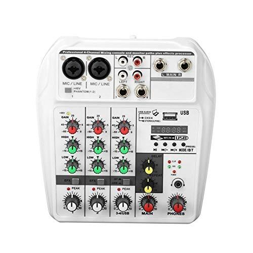 Tragbare 4-Kanal ound Mischpult Digital-Audio-Mixer Einbau-Reverb-Effekte for Recording DJ Netzwerkes Live-Übertragung um Ihren Mix mit Mehr Flair zu Verleihen
