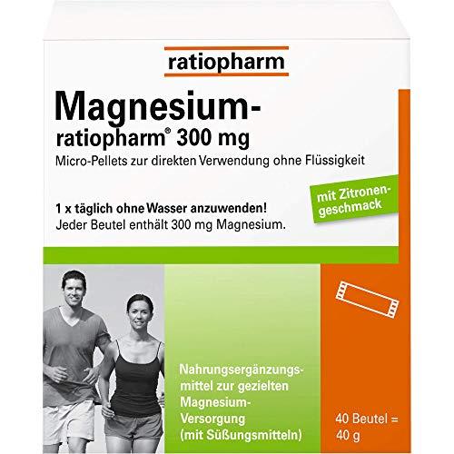 Magnesium-ratiopharm 300 mg Beutel, 40 St. Beutel