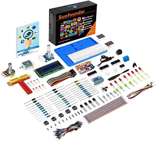 SunFounder Super Starter Learning Kit V3.0 for Raspberry Pi 4 Model B 3B+ 3B 2B B+ A+ Zero Including 123-Page Instructions Book for Beginners