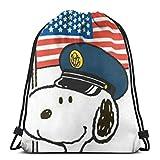 Bolsa clásica con cordón para gimnasio, mochila de policía, bolsa de almacenamiento para hombre y mujer
