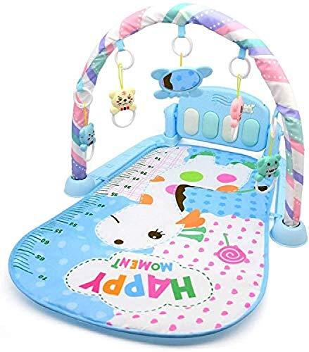 ZHJIUXINGZD Alfombra De Juego para Bebés Gimnasio, Música Y Sonidos, Alfombra De Juego para Bebés Recién Nacidos con Regalo para El Centro De Actividades