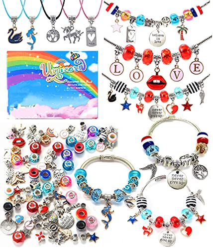 Bracelet Making Craft Kit for Girls,Jewelry Making Supplies Beads Charms...