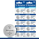 Westinghouse CR2025 Lithium Button Cell, Button Battery, Remote Battery, Remote Battery Cells (10 Counts)