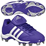 adidas Women's Fastpitch II TPU Softball Cleat,Colpur/Runwht/Metsil,5.5 M